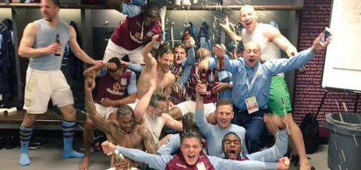 Aston Villa celebration