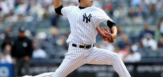 Masahiro Tanaka takinng the mound