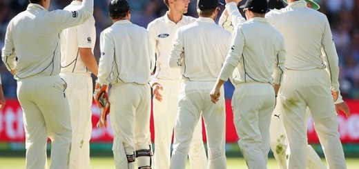 The moment when Nathan Lyon was dismissed in the first innings Lyon