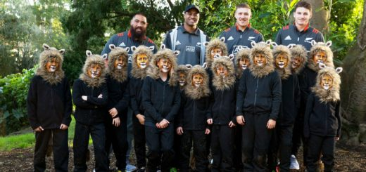 All Blacks with Pakuranga Rugby Club