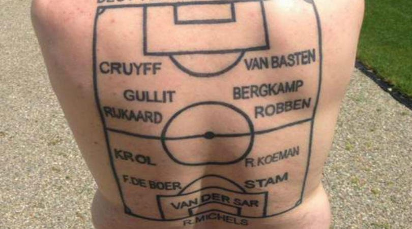 All Star Dutch XI tattoo