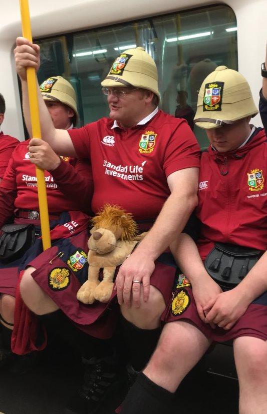Lions fans 3rt test