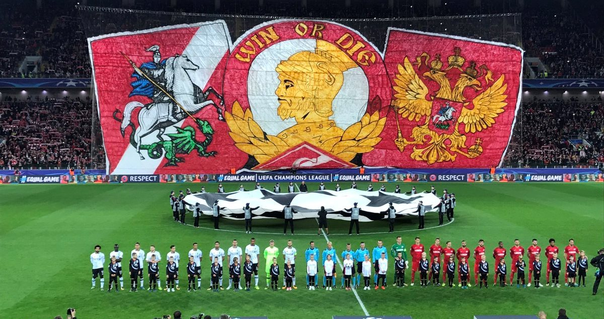 Spartak tifo for the lfc game