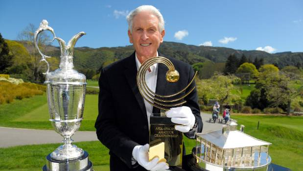 Sir Bob Charles and the Claret Jug grace Royal Wellington white gloves