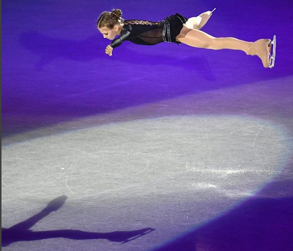 Aexandra Trusova of Russia in action during the grand prix of figure skating final in Nagoya, Japan