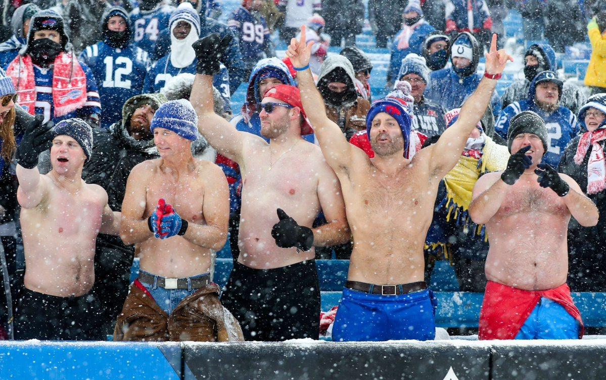 B Bills shirts off