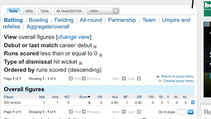 Hit wicket proof