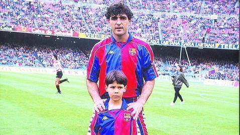 Miguel Angel Nadal poses with his nephew Rafael Nadal From the archives