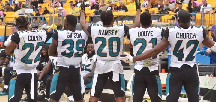 The Sacksonville defence troll another set of fans after a win