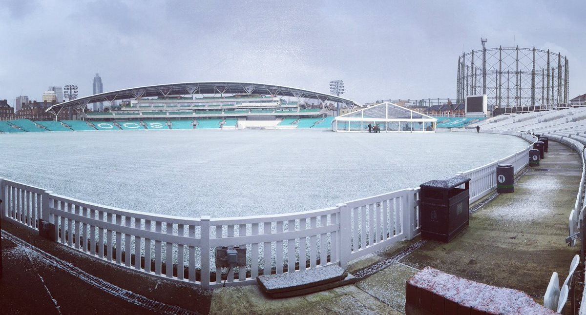 The Oval under ice