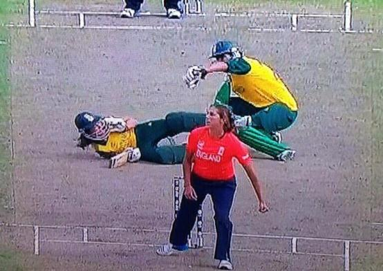 South Africa run out