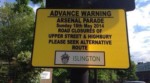 Arsenal 4th place parade
