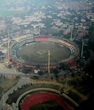 Lahore aerial stadium view gadaffi