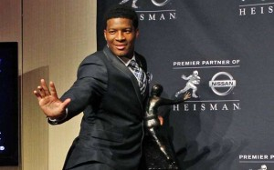 """ I have a better pose then the trophy "" - current holder Jameis Winston - Florida State University"