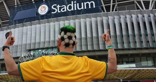 Aus football fan