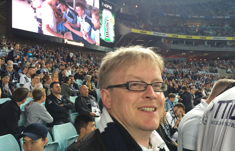 @ozspurs enjoying the game