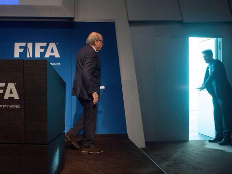 Blatter shown the exit