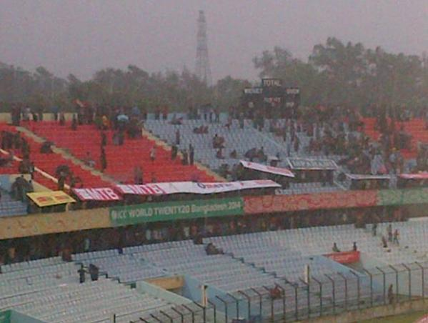 Bangladesh fans making use of advertising hoardings