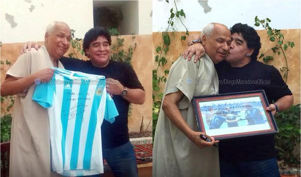 Diego Maradonna visited today former Tunisian referee Ali Bennaceur