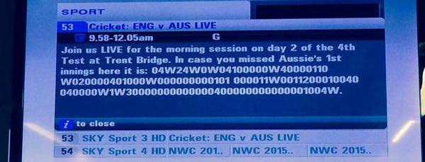 The Aus innings
