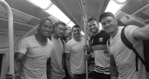 All Blacks on the tube