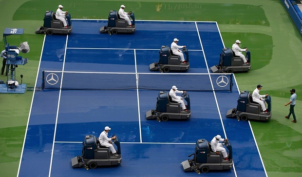 Drying out US Open