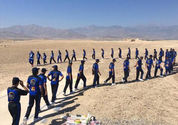 Afghanistan school boys cricket training
