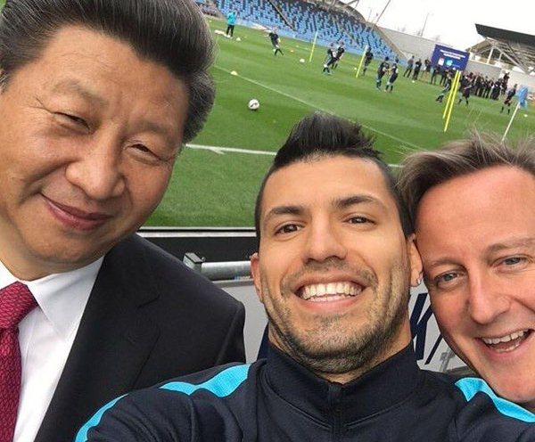 Aguero President Xi and David Cameron