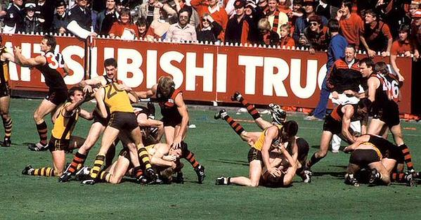 Essendon and Hawthorn 1985 on this day