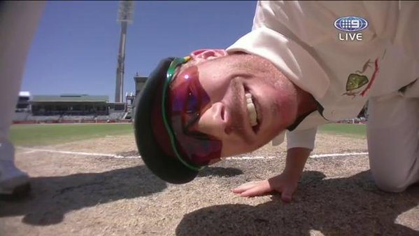 David Warner sightscreen delay