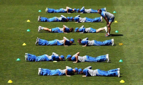 Australia Hobart warm-up