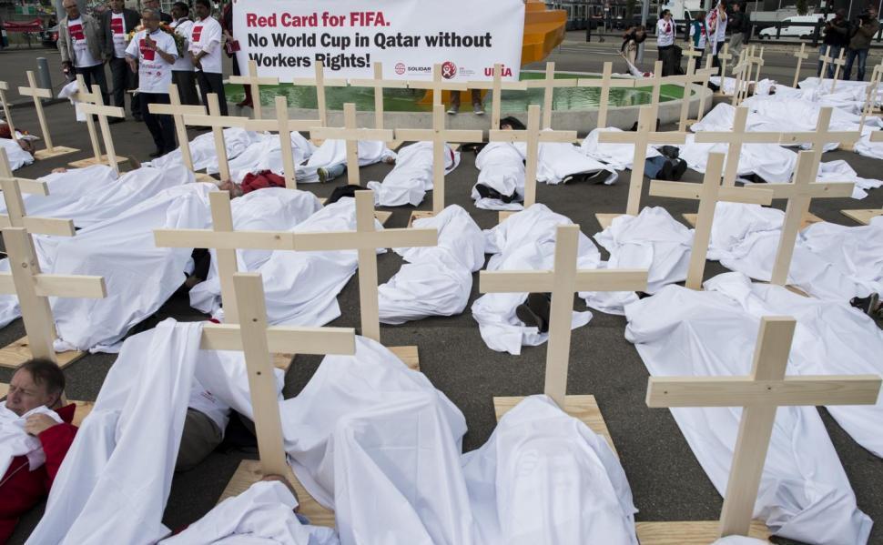 Qatar Zurich protest