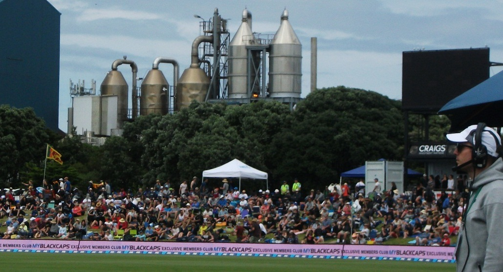 The best cricket grounds are the ones with Industrial sculptures in the background