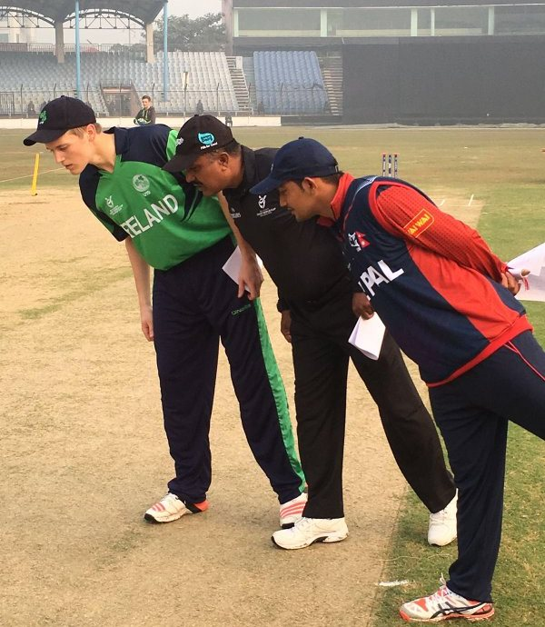 Ireland v Nepal coin toss