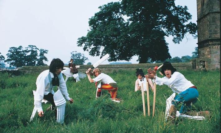 BEGGARS BANQUET Rolling Stones 1968 Stones Playing Cricket