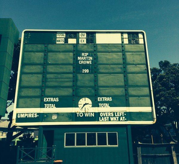 Crowe scoreboard