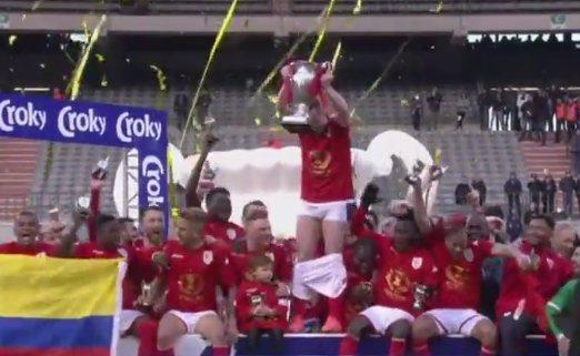 Standard Liege captain Adrien Trebel Belgian Cup