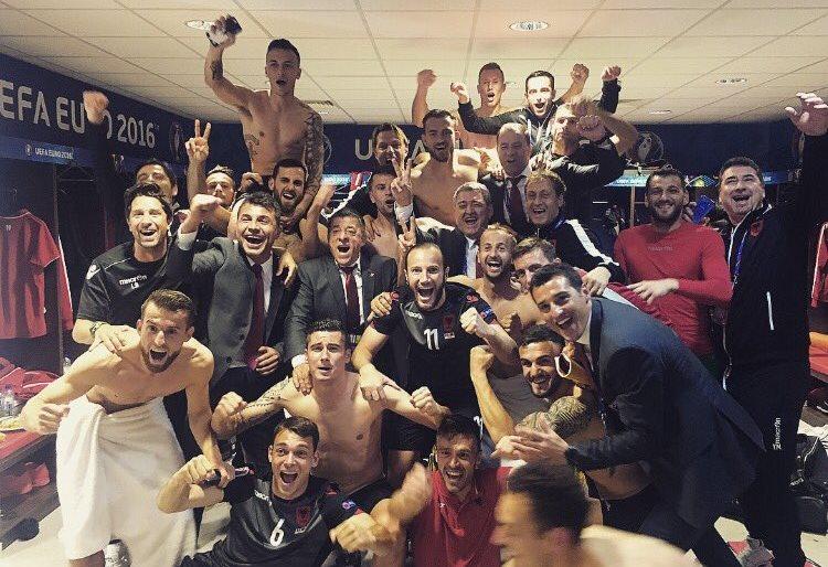 Albania celebrating
