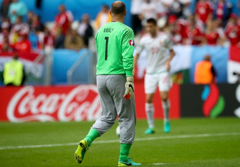 Hungary's 40 year old goalkeeper straight off the couch and into Euro 2016