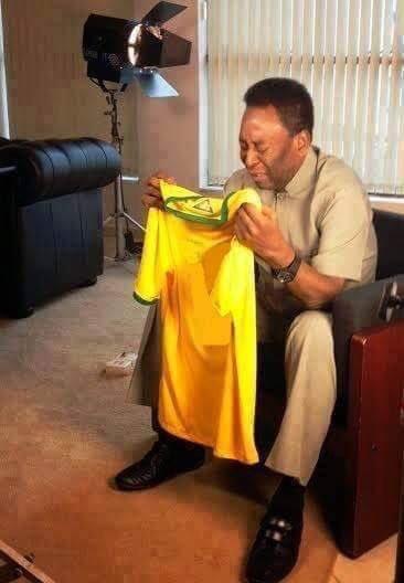 Pele after Brazil lost to Brazil