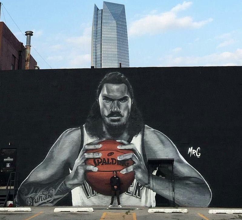 Steven Adams mural OKC
