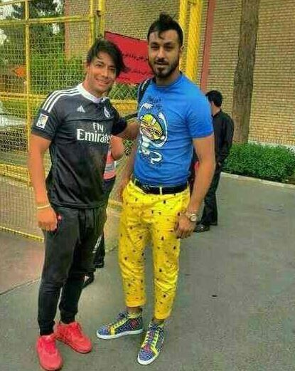 These trousers have earned Iran goalkeeper Sosha Makani a six-month suspension