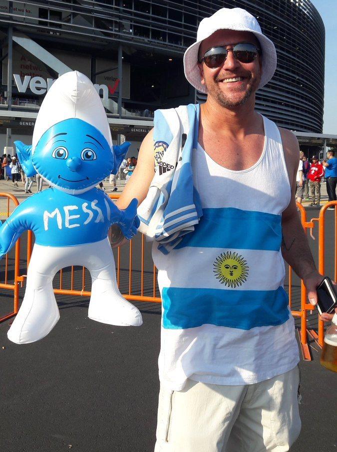 Messi Smurf