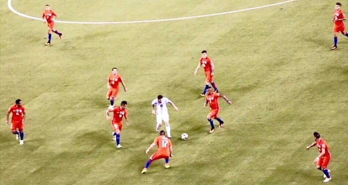 Messi marked Chile