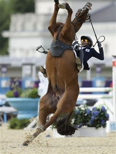 Modern Pentathlon – the event for horses not quite good enough to make the full Equestrian competition