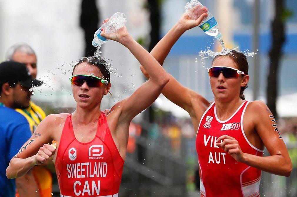 Not synchronised running but womens triathlon