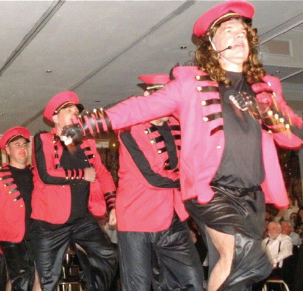Sam Allardyce dressed up as Cheryl Cole