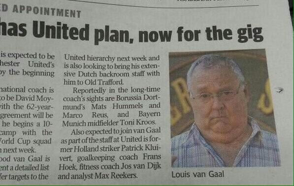 When an Australian newspaper confused Louis van Gaal with Harold Bishop from Neighbours