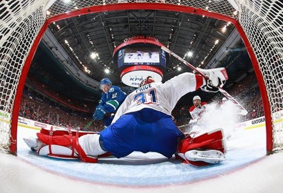 Montreal goalie Carey Price They were playing the Vancouver Canuks