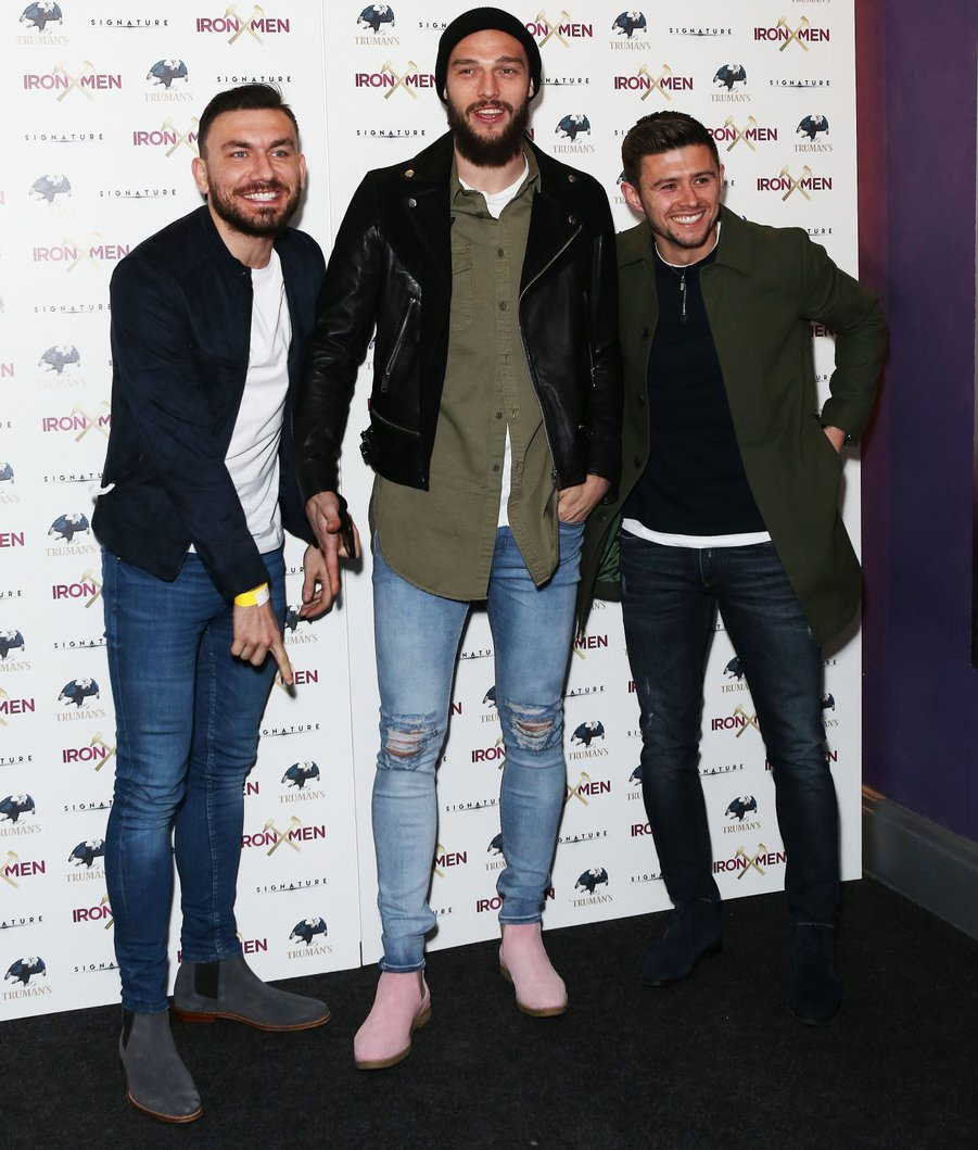 West Ham pink boots Iron Men
